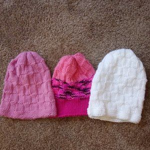 Other - 3 NEW Handmade Detailed Knit Hats $18
